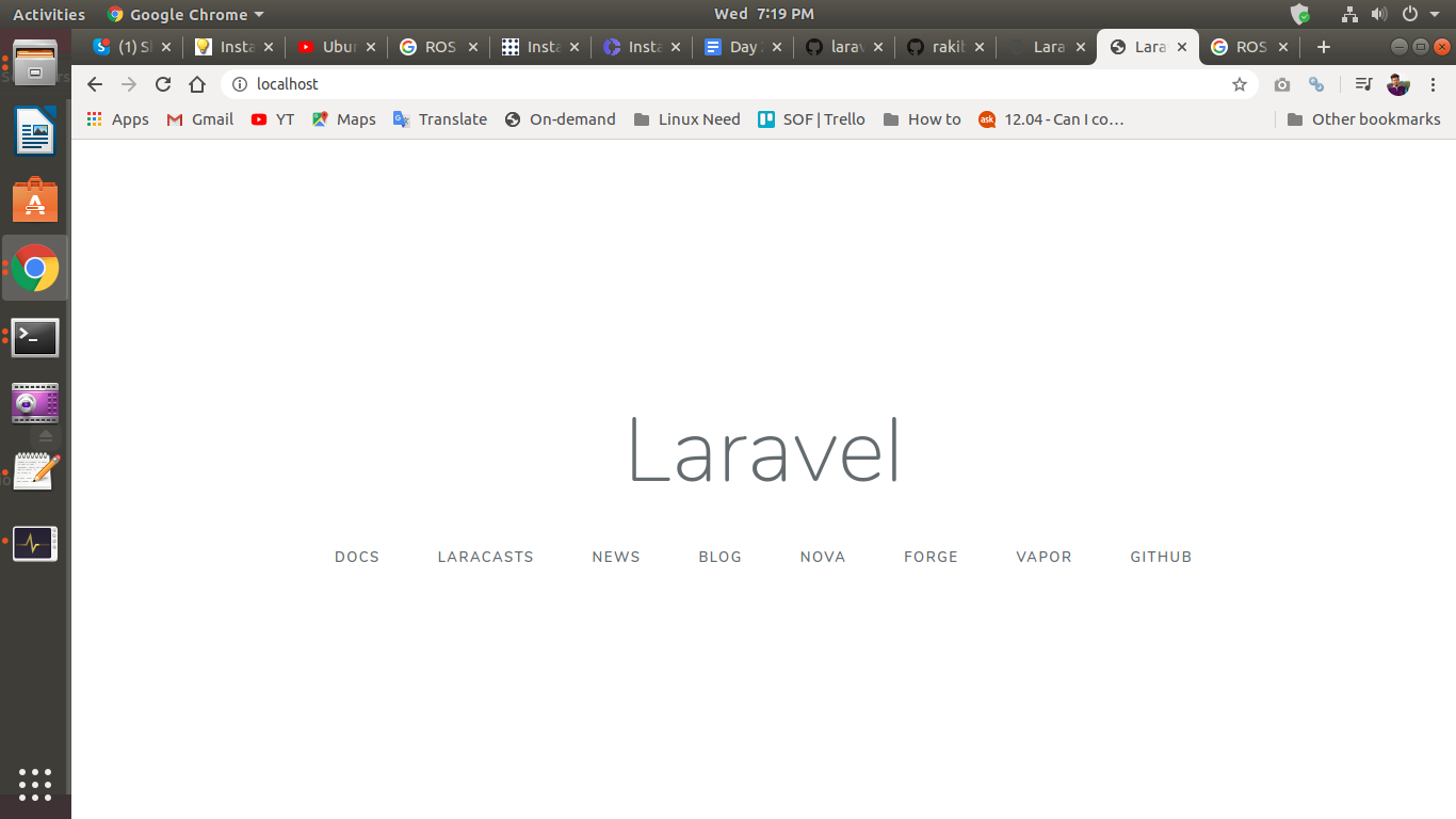 Installed Laravel Framework